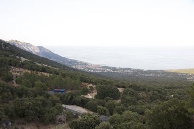 Вид на Cala Gonone с перевала